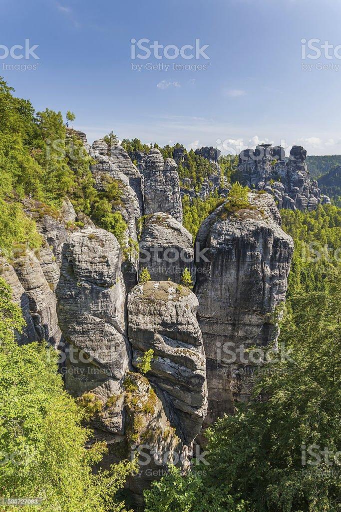 Saxon Switzerland National Park - Bastei, Germany stock photo