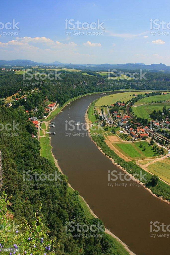 Saxon switzerland royalty-free stock photo