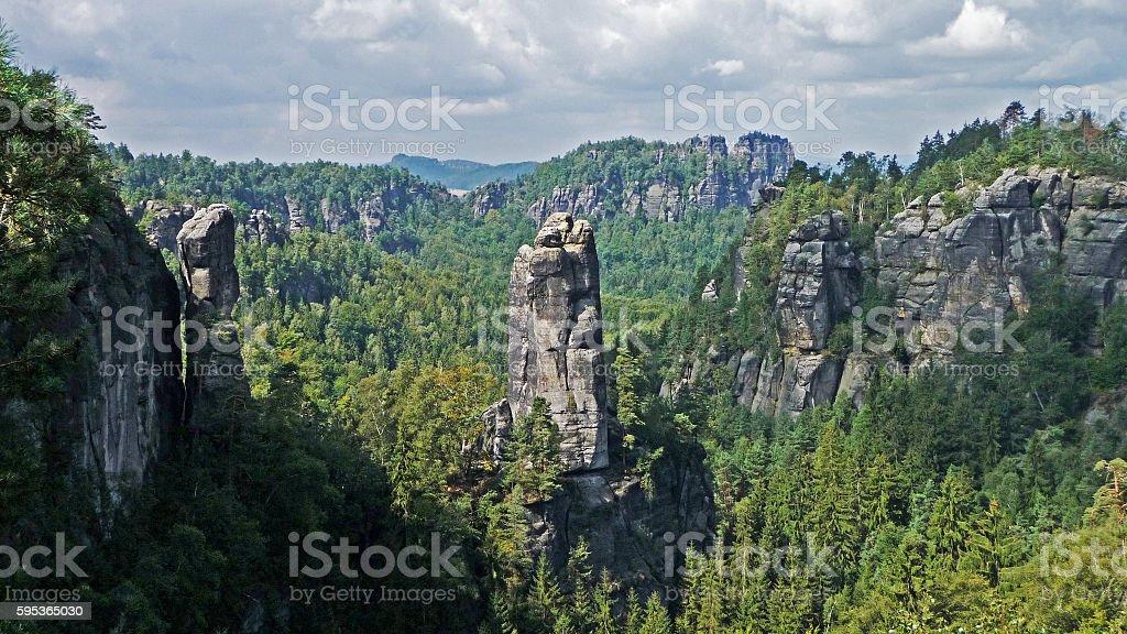 Saxon Switzerland Rocks stock photo