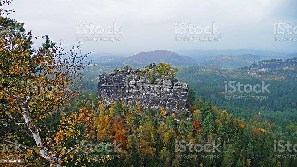 Saxon Switzerland Winterstein In Autumn stock photo