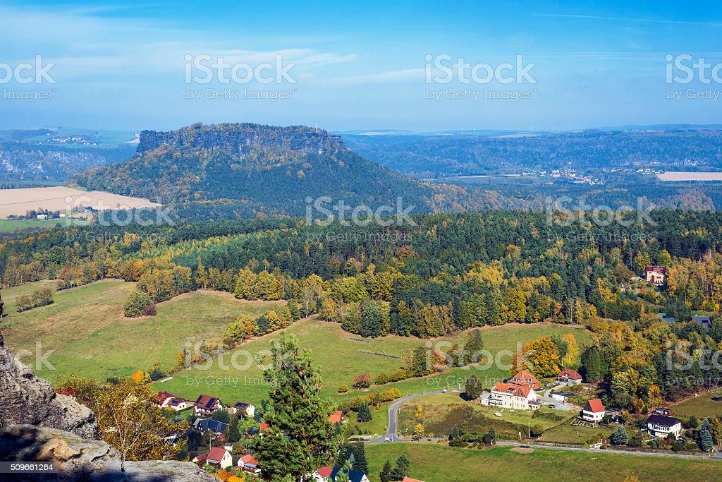 Saxon Switzerland with Lilienstein stock photo