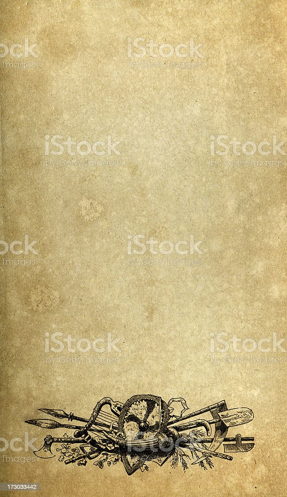 Saxon Weapons Sketch Pad royalty-free stock photo