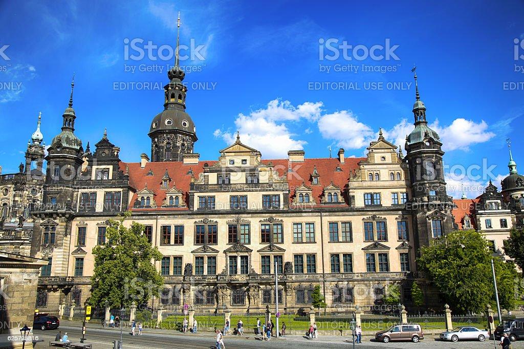 Saxony Dresden Castle (Residenzschloss) in Dresden Germany stock photo