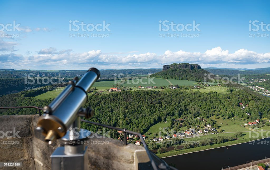 Saxony Swiss - Outlook to Lilienstein stock photo