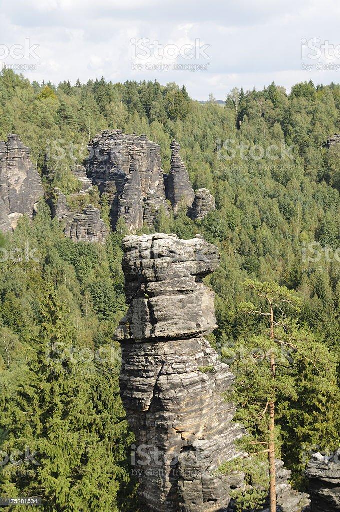 Saxony Switzerland, Biela vally royalty-free stock photo