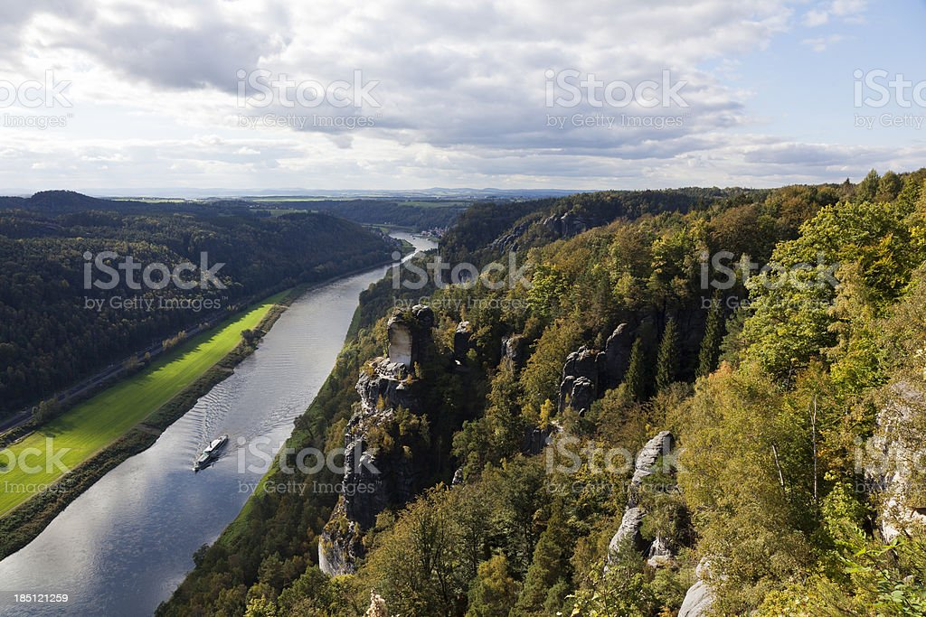 saxony switzerland Elbe valley stock photo