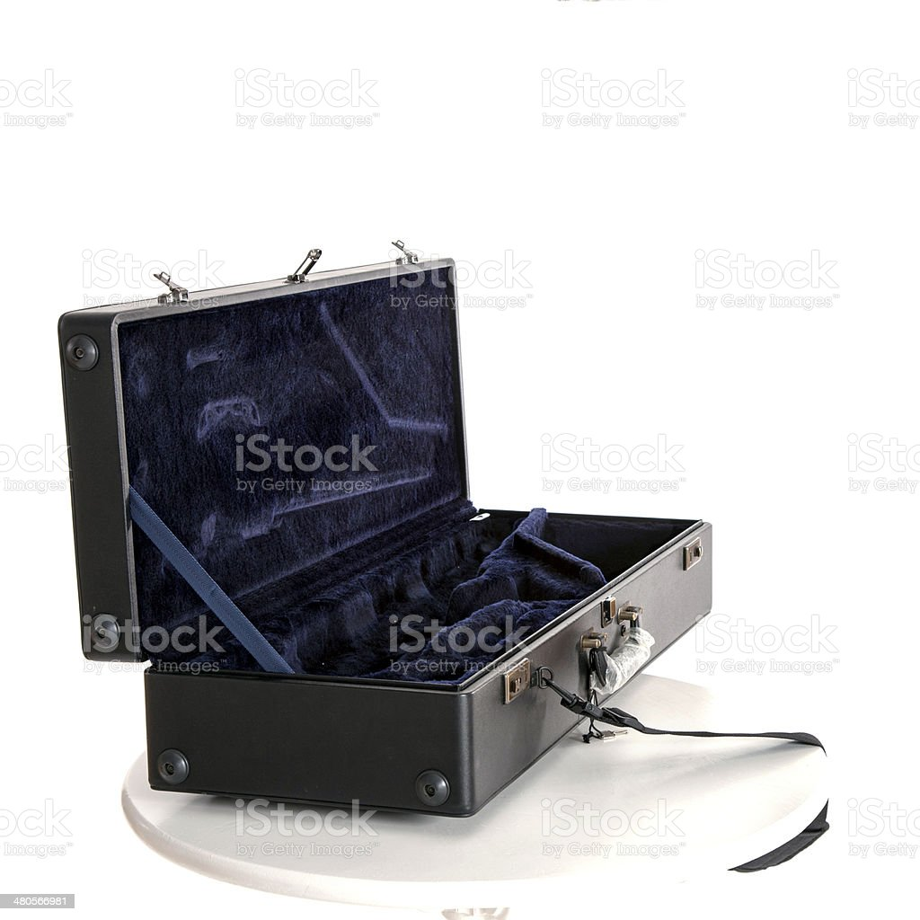 saxophone box royalty-free stock photo
