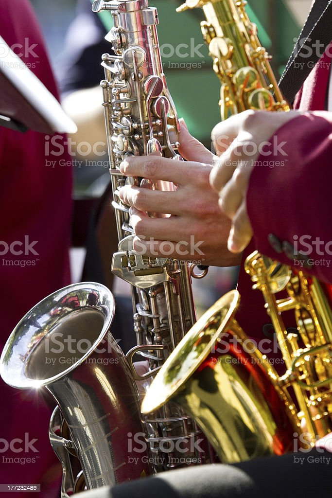 Saxophone Concert stock photo