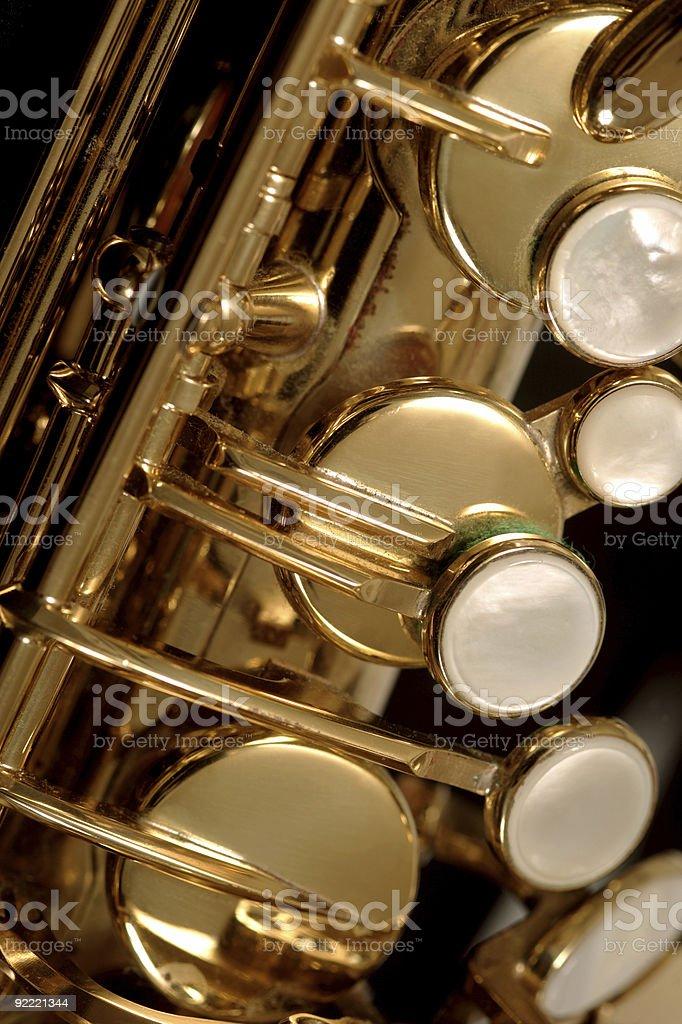 Saxophone detail 2 royalty-free stock photo