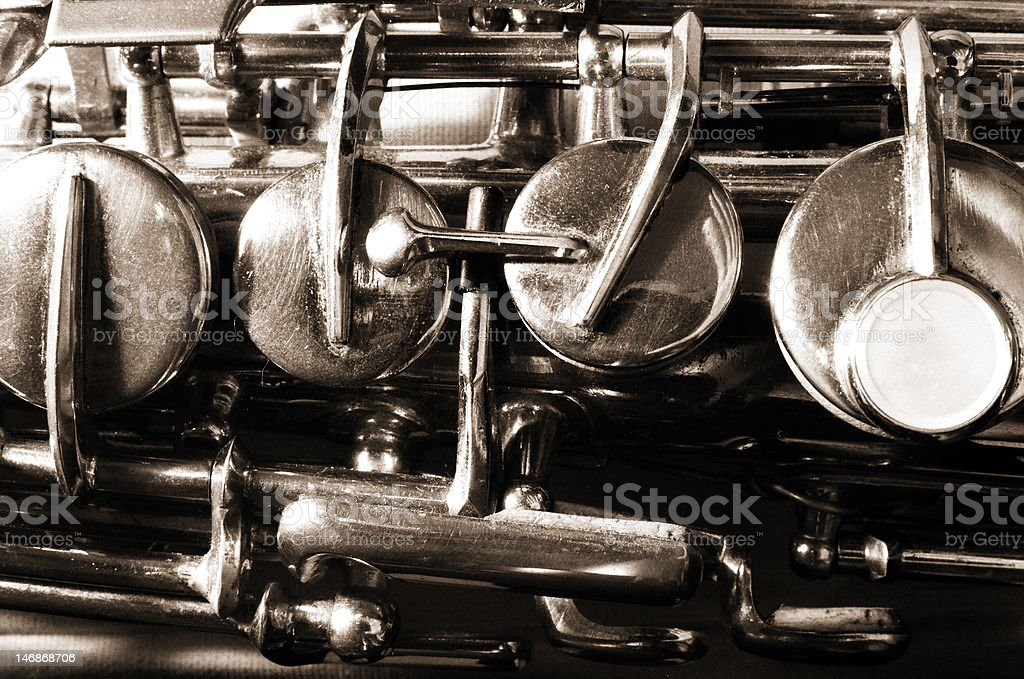 Saxophone detail royalty-free stock photo
