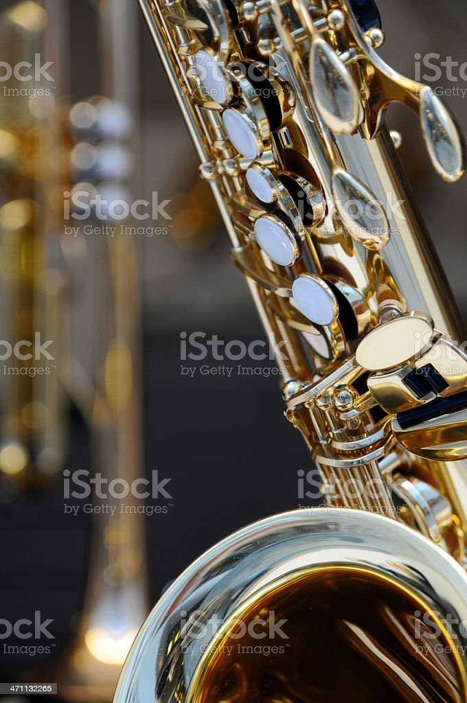 saxophone detail royalty-free stock photo