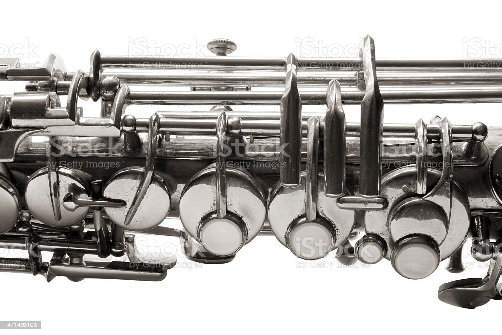 Saxophone detail stock photo