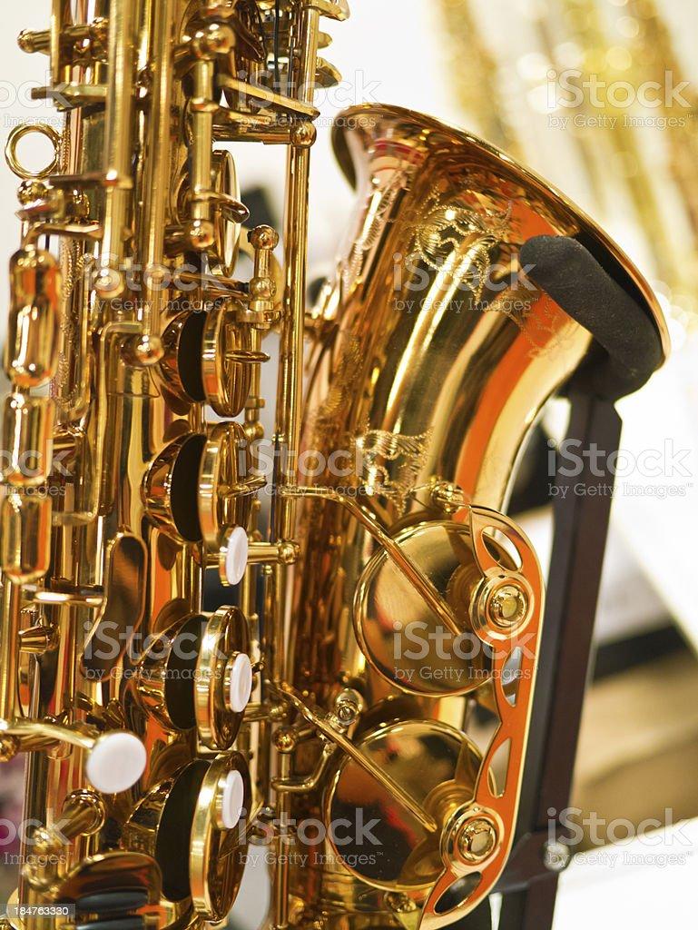 Saxophone fragment royalty-free stock photo