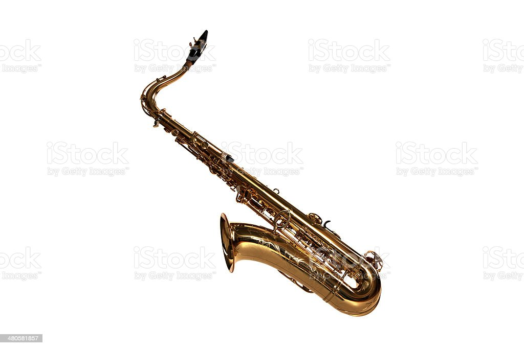 saxophone isolated royalty-free stock photo