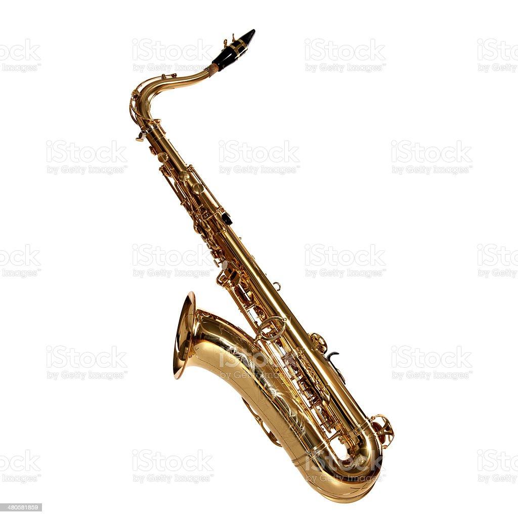 saxophone isolated royalty-free stock photo