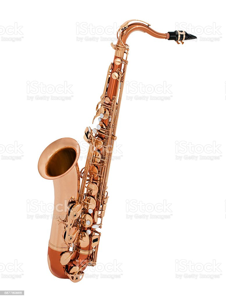 Saxophone isolated stock photo