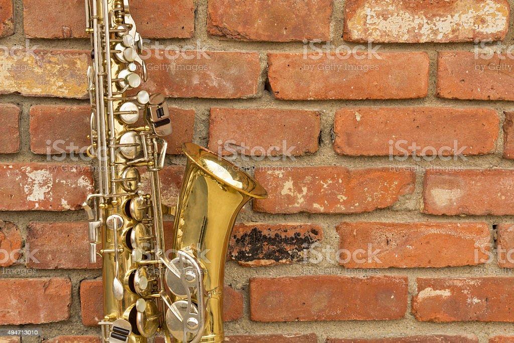 Saxophone Jazz Club stock photo