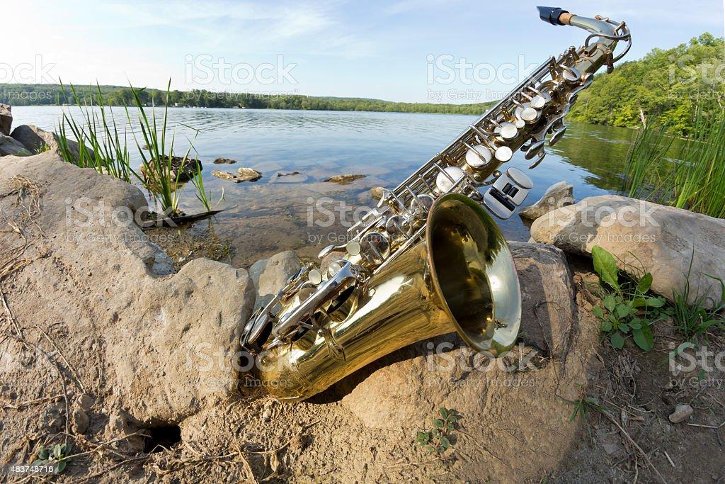 Saxophone Lake Fisheye stock photo