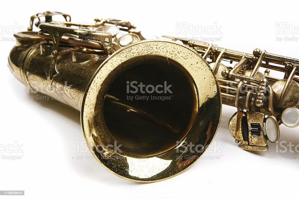 Saxophone. Musical instrument stock photo