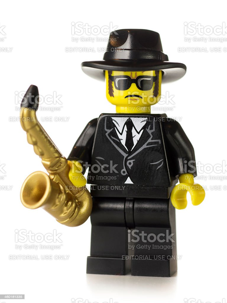 Saxophone Player Lego Mini-figure royalty-free stock photo