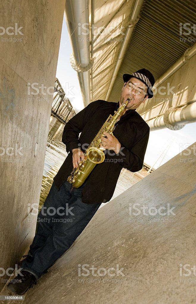 Saxophone Player royalty-free stock photo