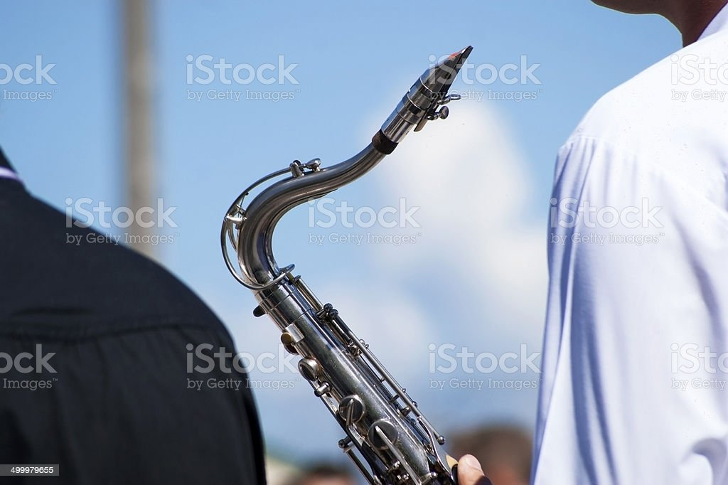 Saxophone Player stock photo
