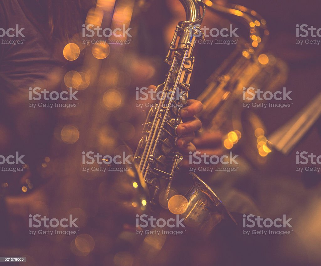 Saxophone Players stock photo