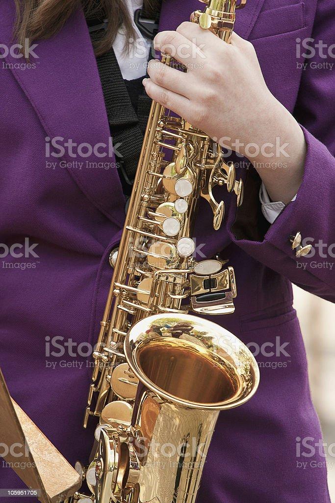 Saxophone Playing royalty-free stock photo