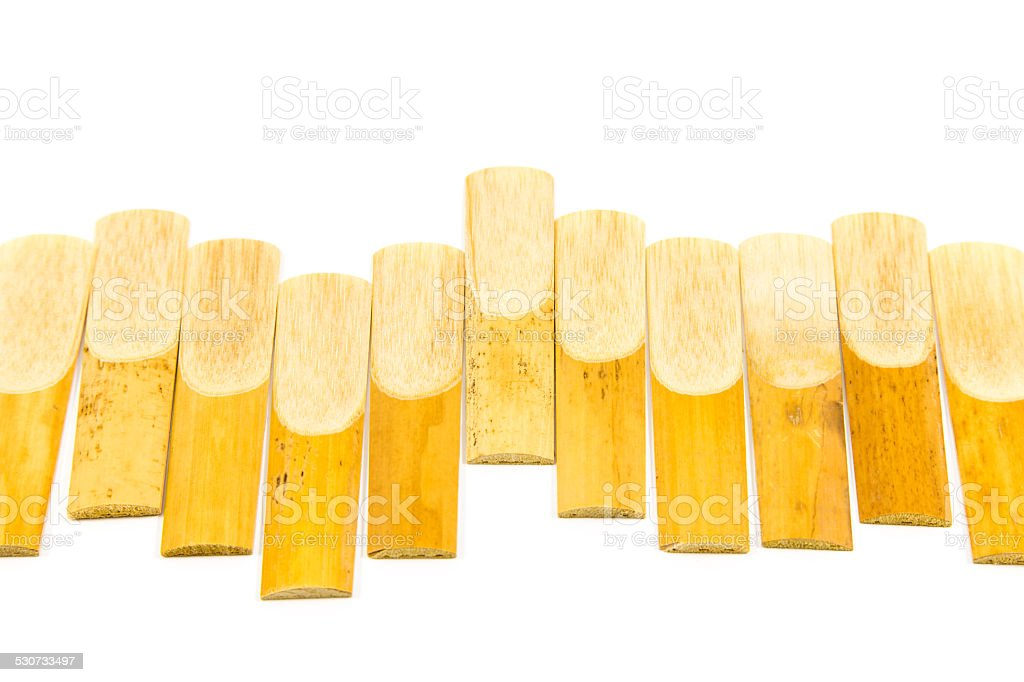 Saxophone Reed stock photo