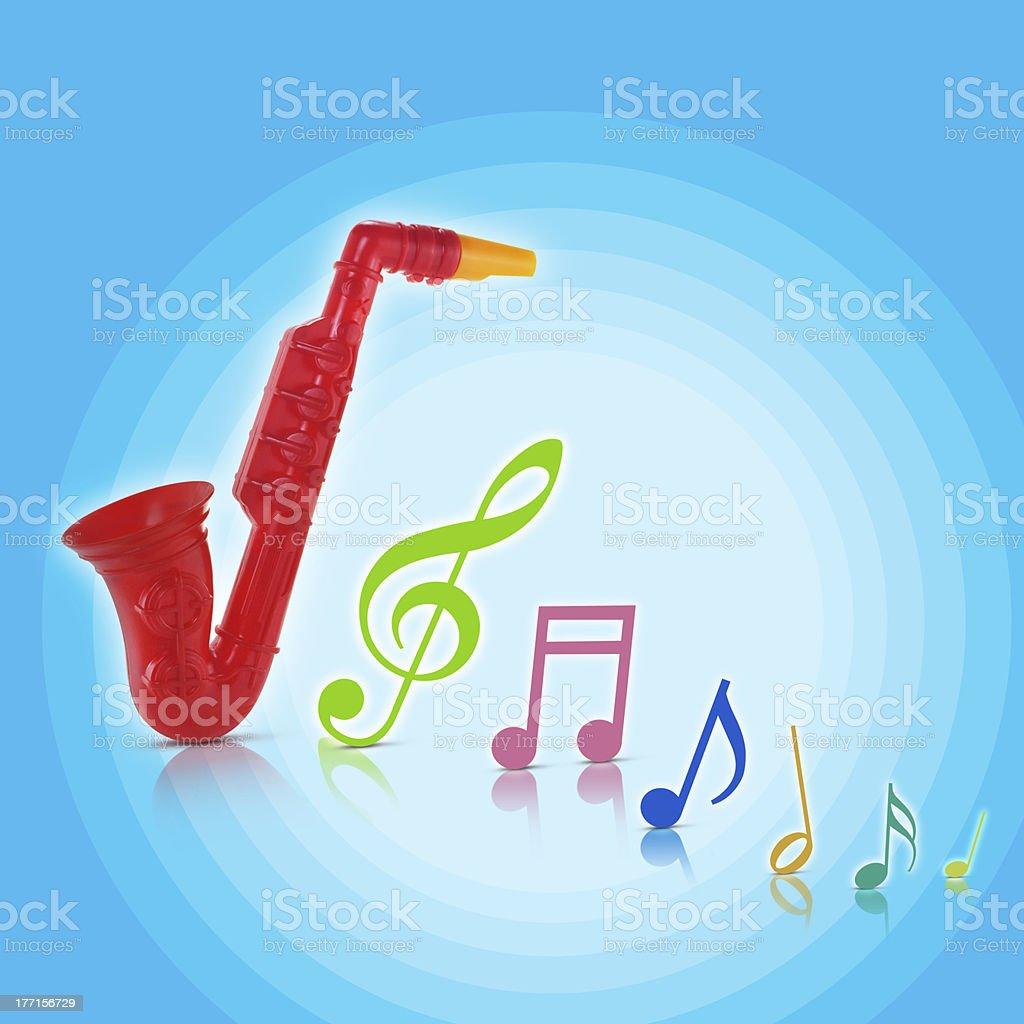 saxophone toy royalty-free stock photo