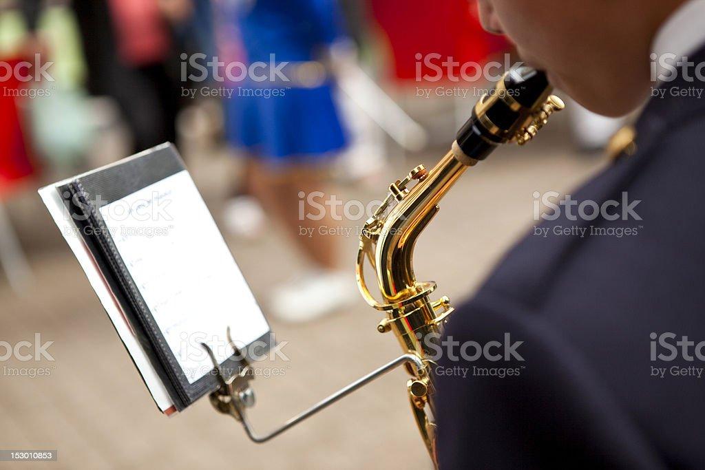 Saxophonist royalty-free stock photo