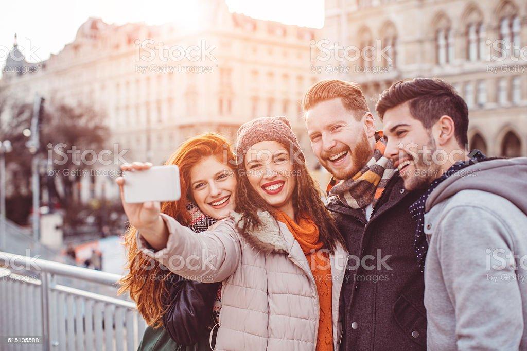 Say cheese everybody stock photo