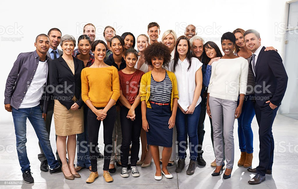 Say cheese for success stock photo