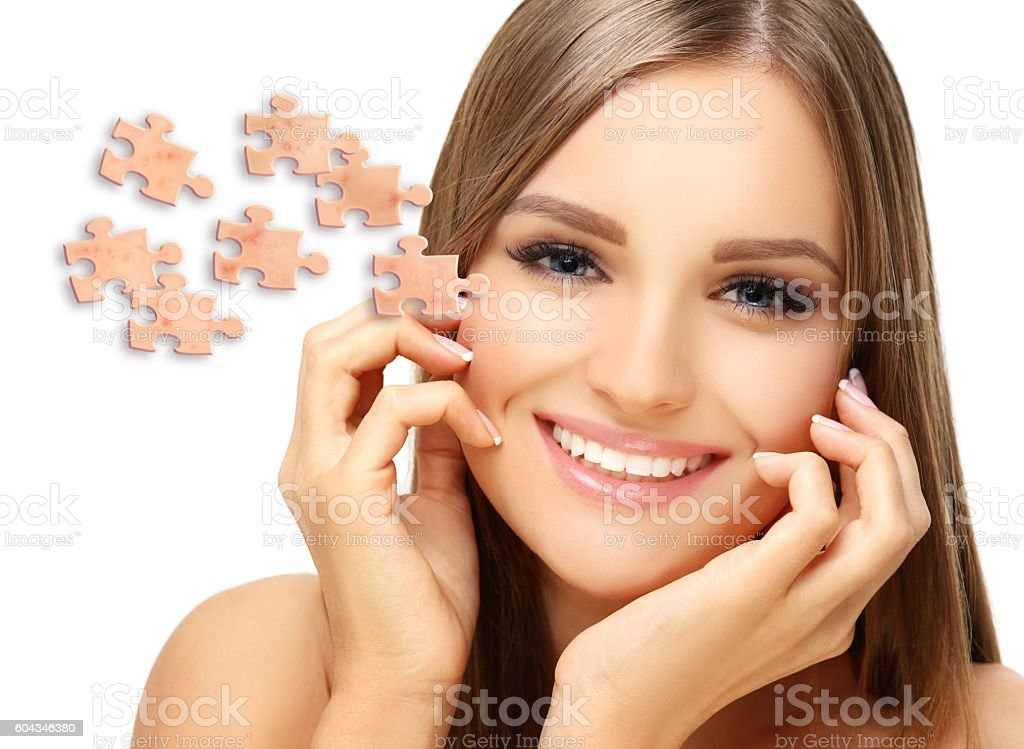 Say 'Good Bye' to Acne and Pimples . stock photo