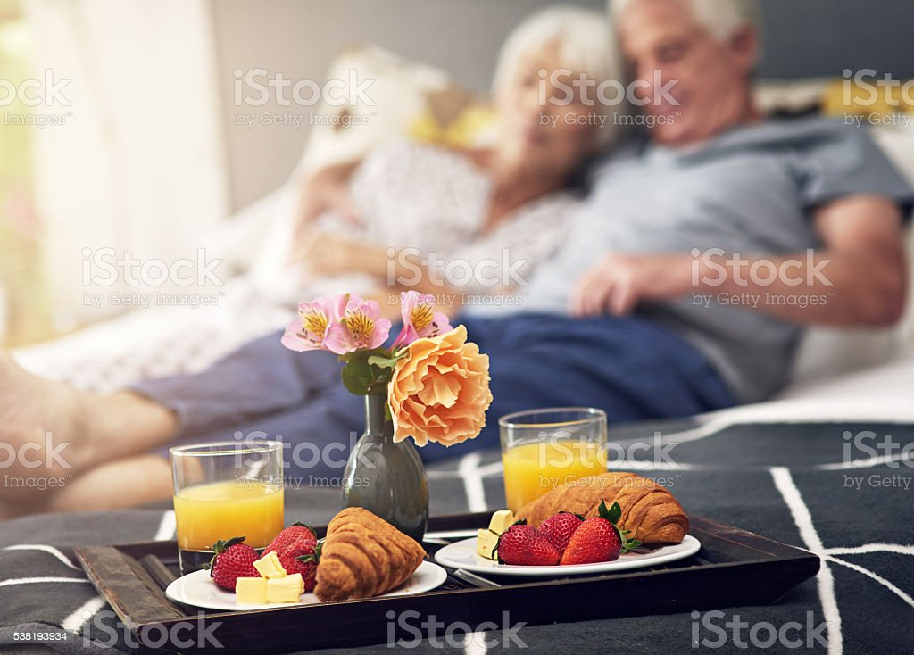 Say good morning to your body, eat breakfast stock photo