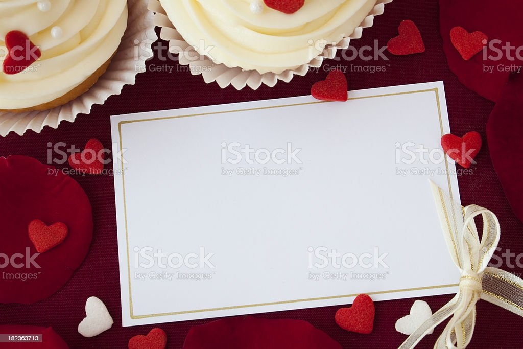 Say it with cupcakes! stock photo