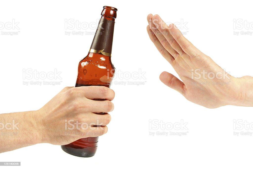 Say no against drinking irresponsible royalty-free stock photo