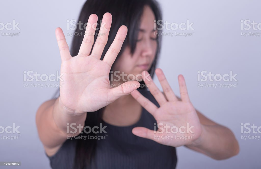 say no stock photo