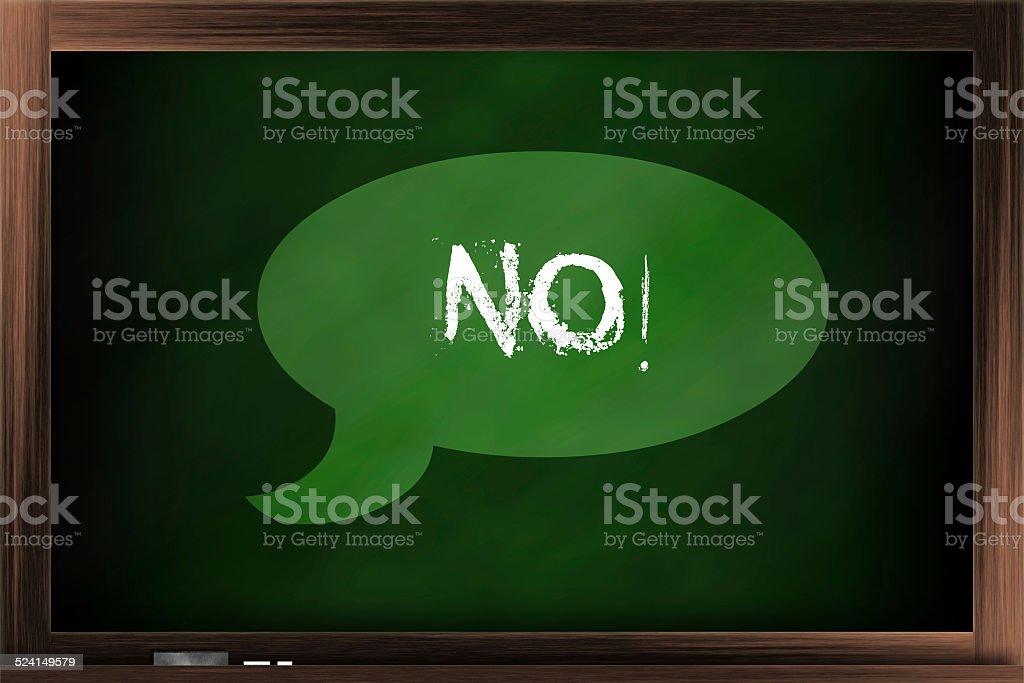 Say 'No' stock photo