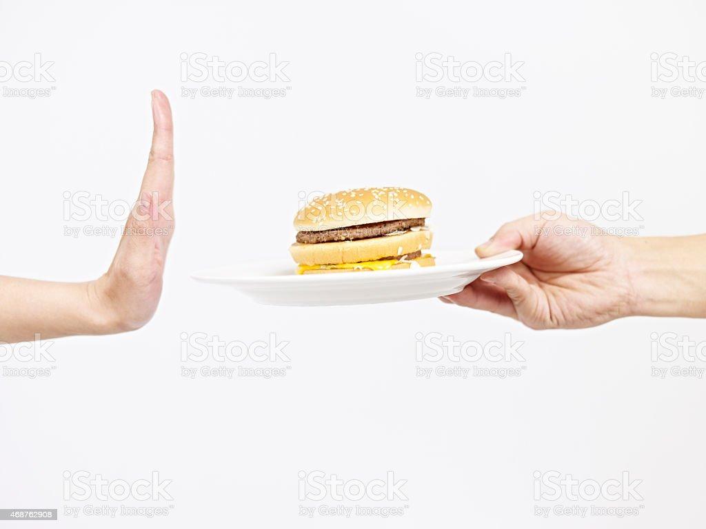 say no to junk food stock photo