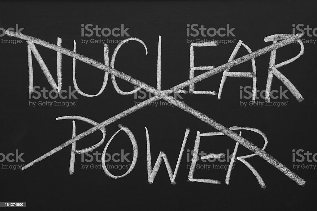 Say No to Nuclear Power royalty-free stock photo