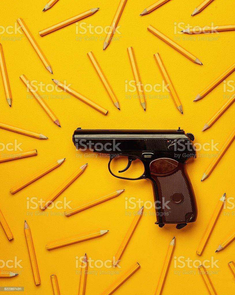 say no to school violence stock photo
