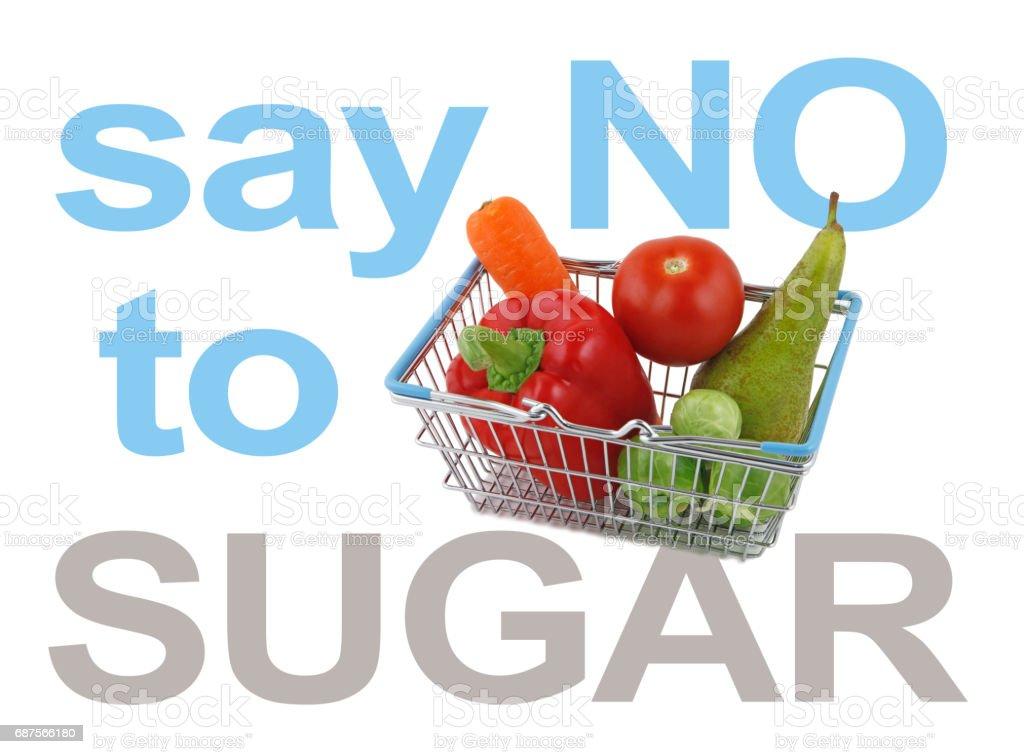 Say NO to SUGAR stock photo