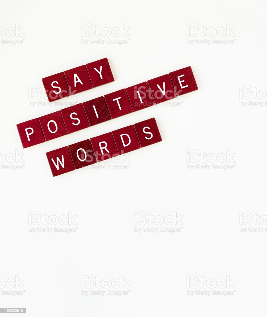 Say Positive Words, Vertical stock photo
