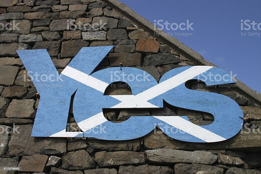 Say YES in Scotland stock photo