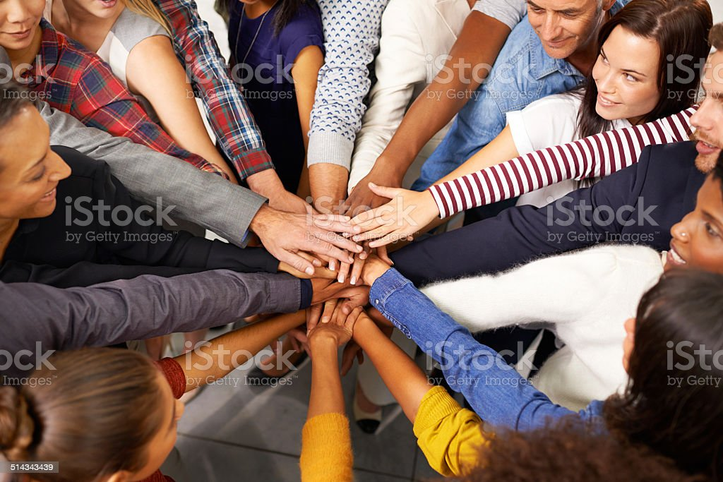 Say yes to success stock photo