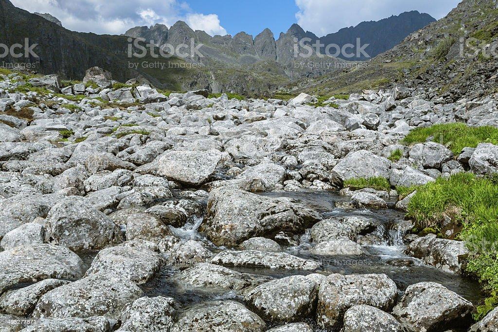 Sayan River Stones royalty-free stock photo