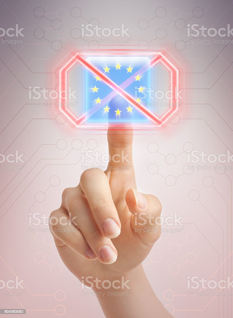 Saying no to EU stock photo