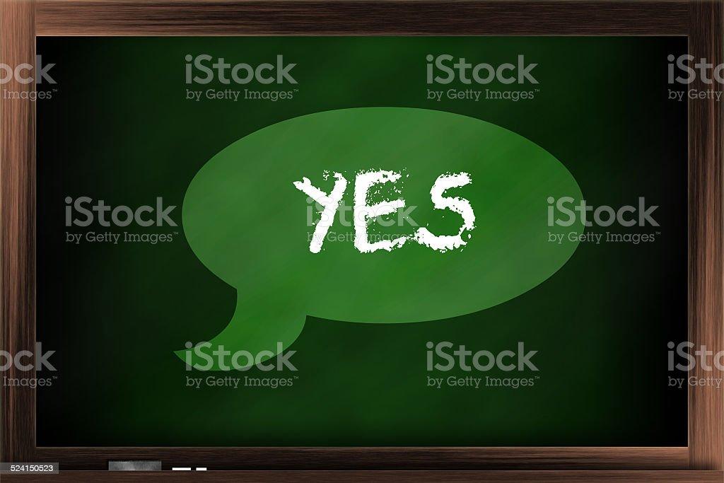 Saying 'yes' stock photo