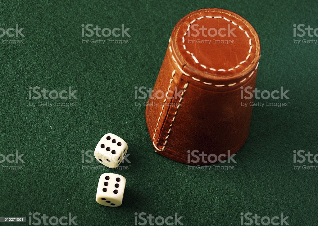 dice cup stock photo